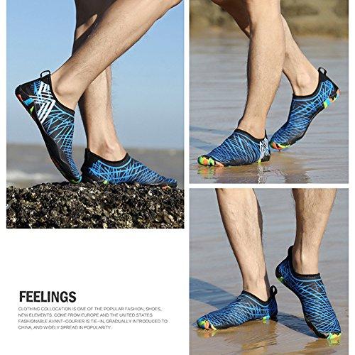 Calzado Mujer Unisex Mujeres de Secado de Azul Transpirable Rápido happygo natación Yoga Hombres Zapatillas Zapatos Agua 5CYXPPxwq