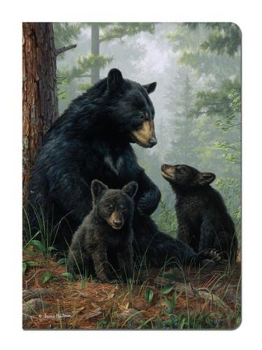 - Tree-Free Greetings Journal, 160 Ruled Pages, Recycled, 5.5 x 7.5 Inches, Bear Family, Multi Color (72051)
