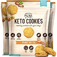 Proudly Pure Mini Bite Size On the Go 3 Pack Keto Yummy Peanut Butter Chip Snacks - Healthy Low Carb, Diet Friendly, Tasty and Delicious Gluten Free Food Treats Made With Real All Natural Ingredients