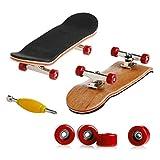 Kocome Wooden Deck Fingerboard Skateboard Sport Games Kids Gift Maple Wood New (Red)