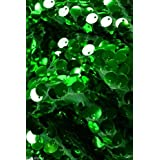 9mm Sequin Fabric material, 1 way stretch /130cm wide / SPARKLING GREEN SEQUINS (sold by the metre) by HomeBuy