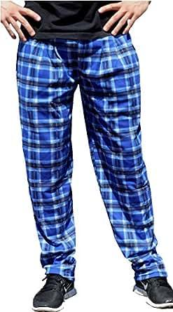 Crazee Wear Blue Plaid Baggy Pants (XS)