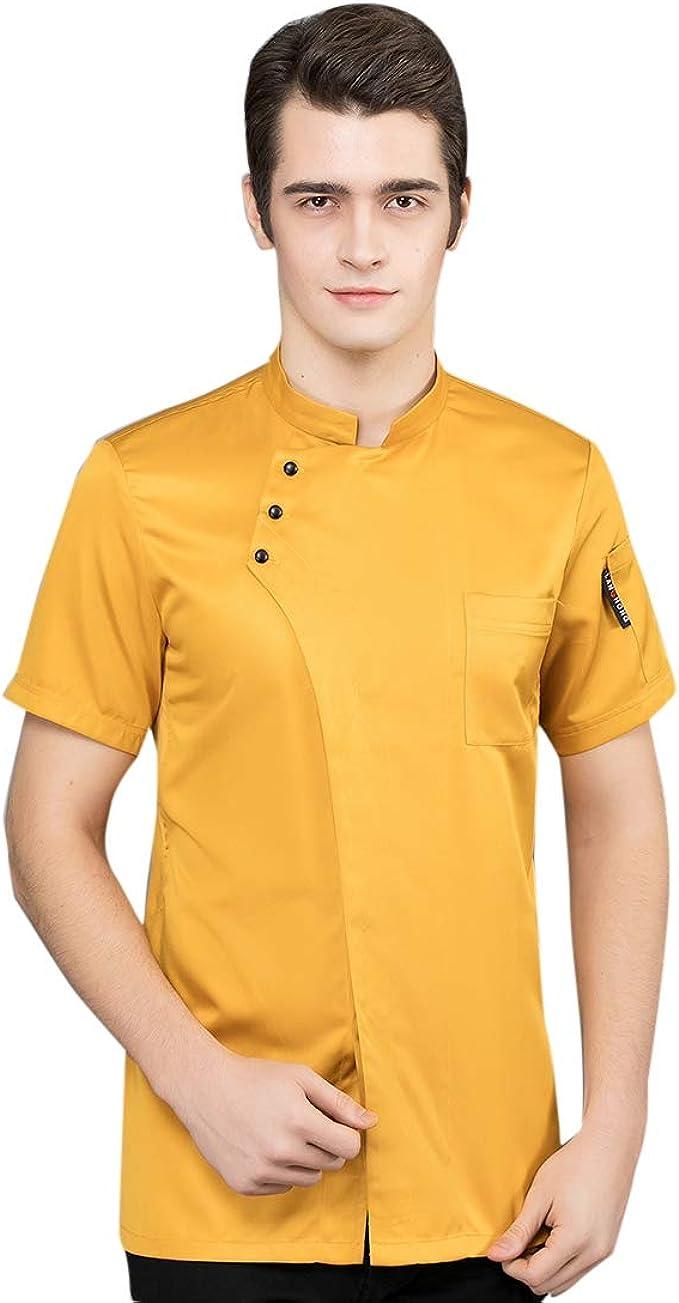 Surui Chaqueta de Chef Uniforme de Cocina Cocinero Corta Verano ...