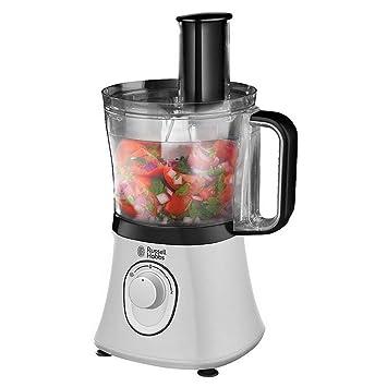 Russell Hobbs Aura Procesador de alimentos de 750W con accesorio picador, incluye jarra batidora, 600 W, De plástico, 2 Velocidades, Negro, Color ...