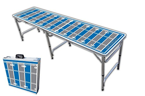 Detroit Lions Professional Football - 8-Foot Professional Beer Pong Table - Detroit Football Field Graphic