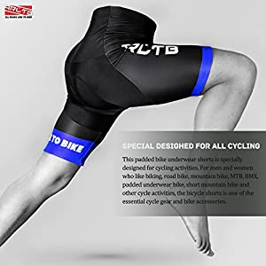 Arltb Bike Shorts 5 Sizes Men Gel Padded Cycling Bicycle Compression Cycle Touring Shorts Tights Underwear Pants Elastic Breathable for Mountain Bike MTB Cycle Road Bike BMX Motorcycle
