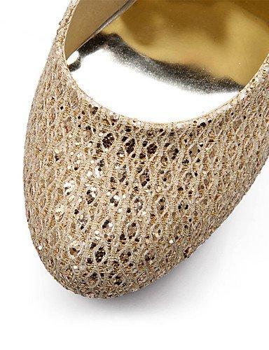 las zapatos bomba eu35 ZQ punta invierno de 5 golden golden plataforma personalizados heelsparty de brillo eu42 eu4 us10 5 golden us10 mujeres us5 del primavera materiales talones uk8 5 cn34 uk3 los cn43 txt6wr5