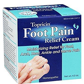 Topricin Foot Pain Relief Cream, 4 oz ( Pack of 6)