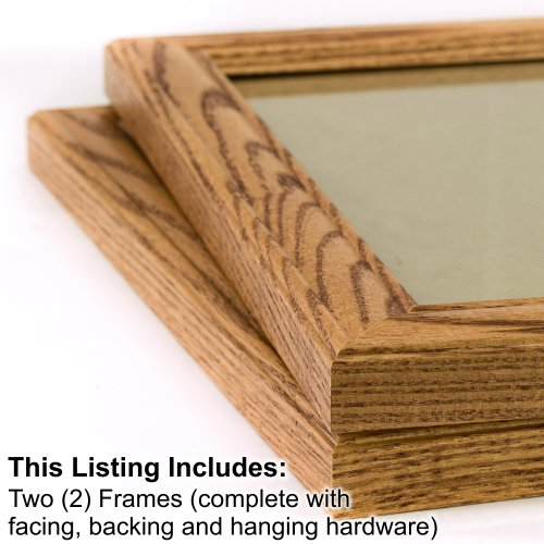 2 Piece Set Bedroom Set (Craig Frames 59504100 8.5 by 11-Inch Picture Frame 2-Piece Set, Solid Wood, 1.25-Inch Wide, Honey Brown)