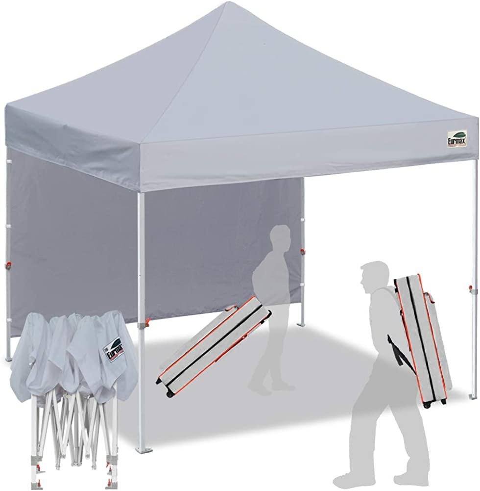 Eurmax Smart 10 x10 Pop up Canopy Tent Outdoor Festival Tailgate Event Vendor Craft Show Canopy Instant Shelter