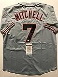 "Autographed/Signed Kevin Mitchell ""NL MVP 1989"" San Francisco Giants Grey Baseball Jersey JSA COA"