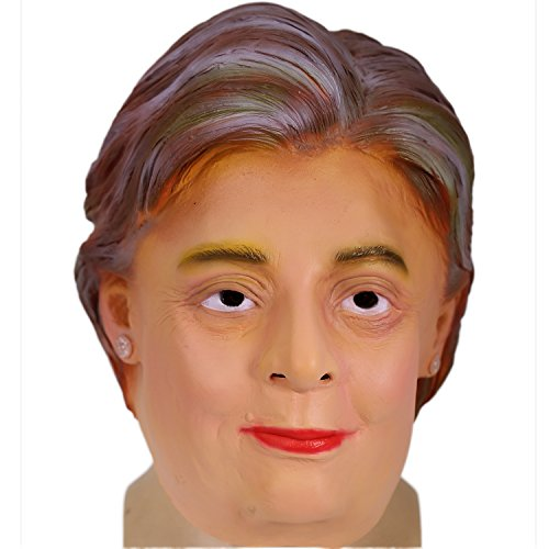Hillary Clinton Mask Deluxe Latex Full Head Mask Celebrity Mask Xcoser ()