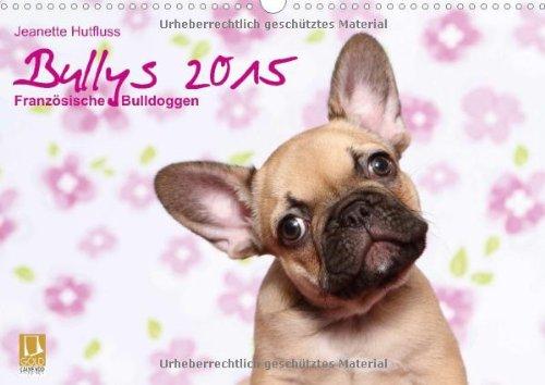Bullys - Französische Bulldoggen 2015 (Wandkalender 2015 DIN A3 quer): kleine Hunde mit großem Herz (Monatskalender, 14 Seiten)