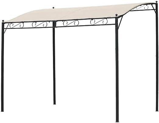 Cenador de jardín - Pérgola de 3 x 2, 5 m de hierro negro con ...