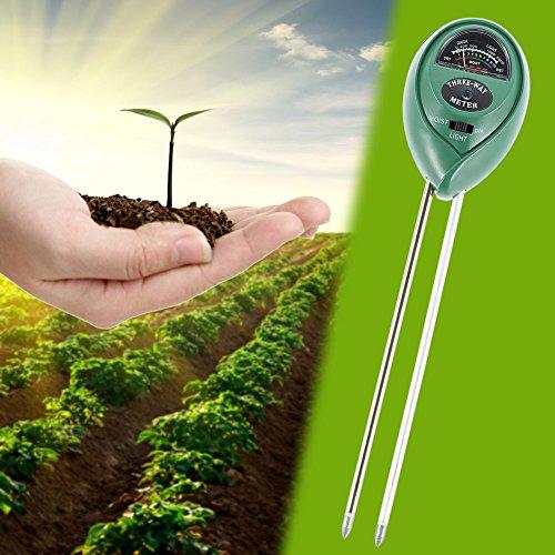 Lznlink 3 In 1 Soil PH Meter Detector Moisture Light Analized Temperature Tester For Garden Plants Flower Farming Agriculture by Lznlink