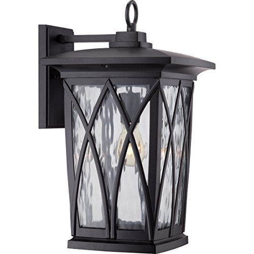 Quoizel GVR8410K Grover 1-Light Outdoor Lantern, Mystic Black