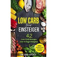 Low Carb für Einsteiger: 42 Low Carb Rezepte mit 14 Tage Diätplan (German Edition)