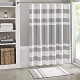 "Madison Park - Spa Waffle Shower Curtain With 3M Treatment - Water Repellent & Stain Resistant - Grey - 72(W)"" X 72(L)"" - Machine Washable"