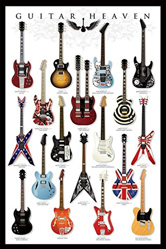 Grindstore Music Maxi Poster Featuring A Guitar Player39;s Heaven, Classic Models 61x91.5cm