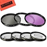 67mm 7 Piece Filter Set Includes 3 PC Filter Kit (UV-CPL-FLD-) And 4 PC Close Up Filter Set (+1+2+4+10) for Canon, Nikon, Olympus, Pentax, Sony, Sigma, Tamron SLR Lenses, Digital Cameras & Camcorders