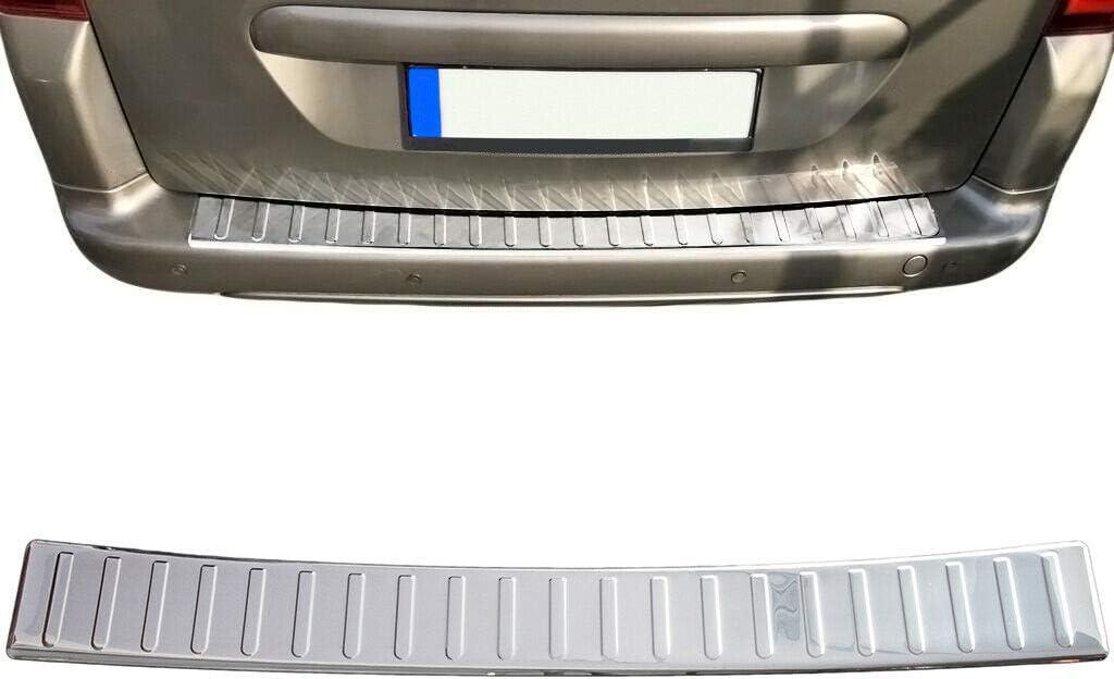 Partner Tepee Recambo CT-LKS-1040 Protection de seuil de Chargement en Acier Inoxydable pour Citro/ën Berlingo II avec chanfrein Taille L