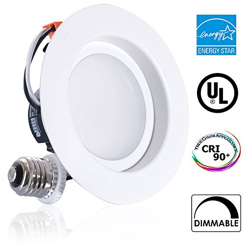 11Watt 4-inch ENERGY STAR UL-listed Dimmable LED Downlight Retrofit Recessed Lighting Fixture - 3000K Warm White LED Ceiling Light --650LM, CRI 90