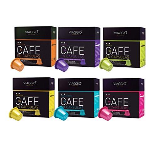 Viaggio Espresso - 60 Kaffeekapseln verwendbar für Nespresso Kaffeemaschinen 00.SURTIDO