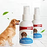Dog Potty Training Spray, AUOKER Dog Puppy Here Potty Training Puppy Housebreaking Aid Spray for Dogs to Help Puppies Pee at Specific Place, Dog Toilet Trainer Indoor or Outdoor Use 50ml/ 1.7oz