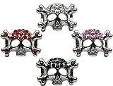 3/8'' Skull Slider Charm Black 3/8'' (10mm) Case Pack 48 3/8'' Skull Slider C...