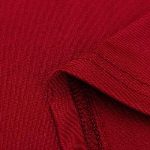 Manches T Strappy Femmes Hauts Vin Blouses Rouge Shirt d't Froide paule Courtes tefamore OwECZO