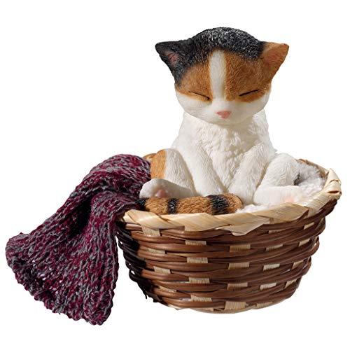 Design Toscano Sleepy Time Kitty Cat Statue, 5 Inch, Full ()