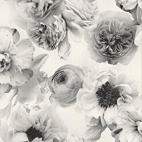 Diamond Bloom Floral Wallpaper Mono Arthouse 257001