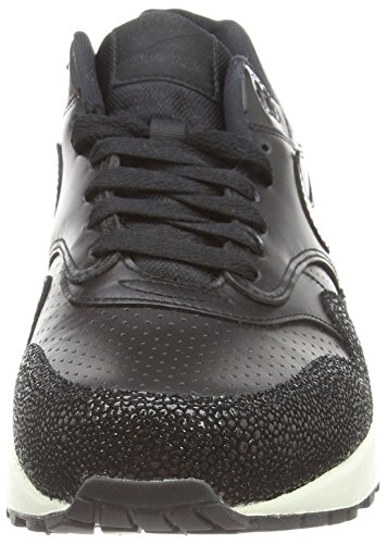 NikeAir Max 1 Leather Pa - Zapatillas de running hombre Blanco-Negro