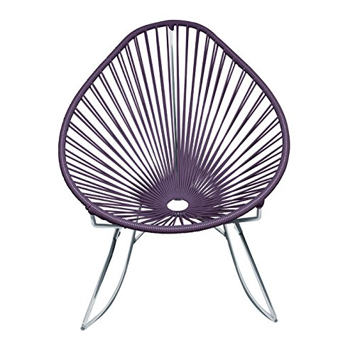 UPC 810857002481, Innit Designs Acapulco Rocking Chair, Chrome Frame with Grey Weave