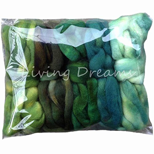 SPINNING FIBER Super soft BFL Wool Top Roving drafted for hand spinning (Wool Combed Top)