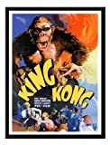 Iposters King Kong Movie Print Magnetic Memo Board Black Framed - 41 X 31 Cms (approx 16 X 12 Inches)