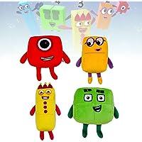 Numberblocks plysch, söt anime mjuk fylld plyschleksak, present till barn och fläkt (C)