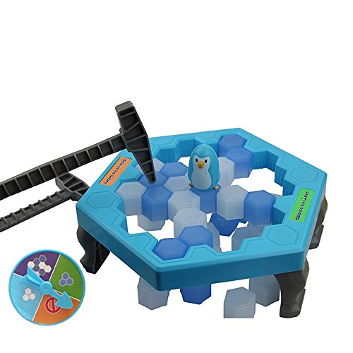 YIFEN Penguin Trap Ice Breaker Game Save Penguin on Ice Block Board Game Family (Interactive Training Table Connectors)