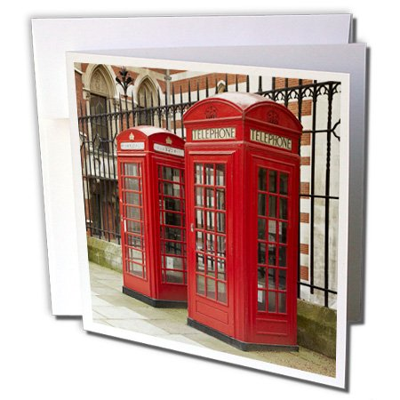 3dRose Phone boxes, Royal Courts of Justice, London, England - EU33 DWA0003 - David Wall - Greeting Cards, 6 x 6 inches, set of 12 (gc_82770_2)