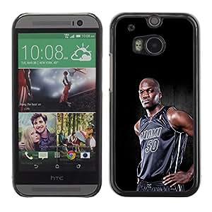 Miami 50 Baloncesto - Metal de aluminio y de plástico duro Caja del teléfono - Negro - HTC One M8