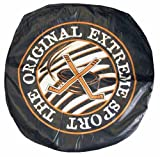 "Giant Vinly Beanless Hockey Puck Shaped Bag Chairs. 32"" in Diameter."