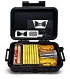Club Modiano Rolling Papers Bistro Ungummed (7 Packs) Airtight Travel Case, Pre Rolled Tips, 79mm Roller, Flip Top Storage Containers Hippie Butler Grinder Card and Magnifying Scoop Card