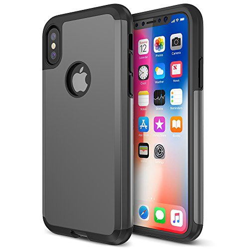 - Trianium Protanium Series Case Designed for Apple iPhone Xs (2018) & iPhone X (2017) Case with Heavy Duty Protection and Reinforced Corner Cushion and Rigid Hard Back Panel - Gunmetal