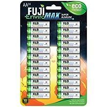Fuji EnviroMAX Super Alkaline AA Eco Friendly Batteries (Pack of 24)