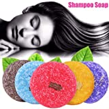 Shampoo Soap - Delaman Natural Herbal Handmade Soap, Hair Growth Nourishing, Fragrance Shampoo Bar Soap for Men and Women (Color : Jasmine)