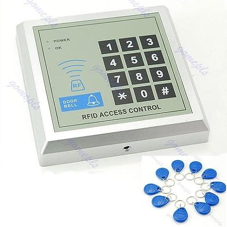 Amazon com : Rfid Proximity Door Lock Access Control System +10 Keys