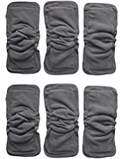 """See Diapers 6 Pack Bamboo Charcoal Inserts or Doublers with Gussets for Cloth Diapers 14"""" X 5"""""""