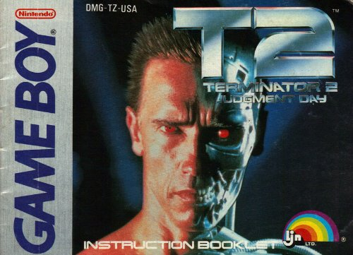 T2 Terminator 2 Judgment Day GB Instruction Booklet / Manual (Nintendo Game Boy Manual Only)