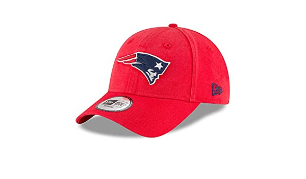 e02df56fece11a Amazon.com : New England Patriots New Era NE Core Fit 49FORTY Fitted Hat Red  : Sports & Outdoors