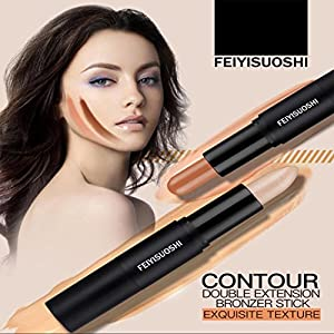Hunputa Concealer, Cosmetics Cream Contour and Highlighting Makeup Kit By Rejawece - Contouring Foundation makeup / Concealer Stick - Double Extension Contour Stick (C)